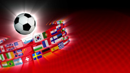 Soccer International Flags Sport Background 54 (HD) Animation