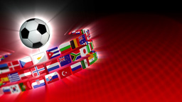 Soccer International Flags Sport Background 54 (HD) Stock Video Footage