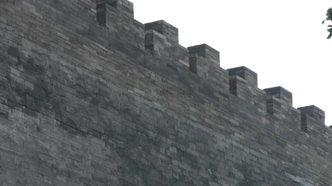 Ancient city Great Wall texture.roof of Forbidden City palace.Weathering of maso Footage