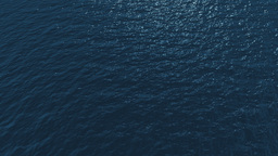 Aerial Over Ocean stock footage