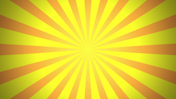 BG RETRO RADIAL 01 Yellow 25fps Stock Video Footage