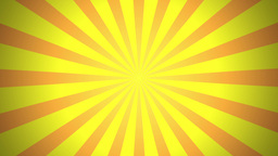 BG RETRO RADIAL 01 Yellow 25fps Animation