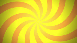 BG RETRO RADIAL 03 Yellow 24fps Stock Video Footage
