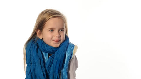 blondika emotional little girl Footage