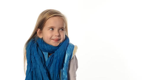 blondika emotional little girl Stock Video Footage