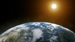Dawn on planet earth Animation