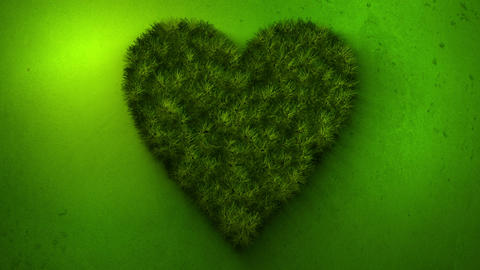 Green grass in the shape of heart Animation