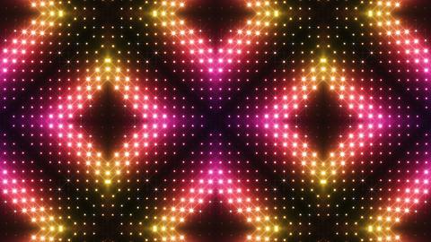 LED Kaleidoscope Wall 2 Cs 1 LRR 2 HD Stock Video Footage