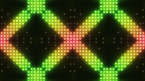 LED Kaleidoscope Wall 2 Cs 1 LRR 2 HD Stock Video Footage