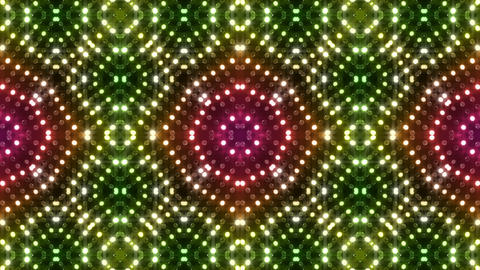 LED Kaleidoscope Wall 2 Gb 1 LRR HD Stock Video Footage