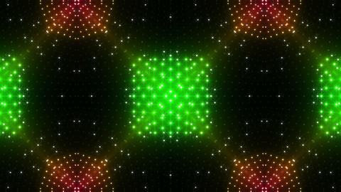 LED Kaleidoscope Wall 2 Gs 1 BTR HD Stock Video Footage