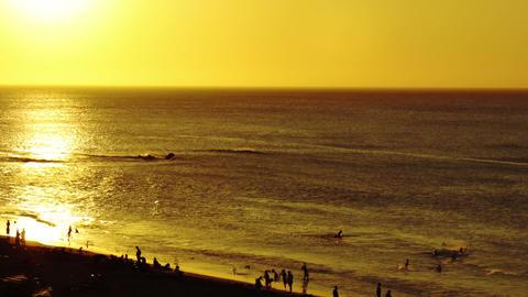 Beach sunset timelapse 02 Stock Video Footage