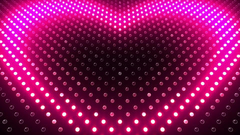 LED Wall 2 Heart G Ac HD Stock Video Footage