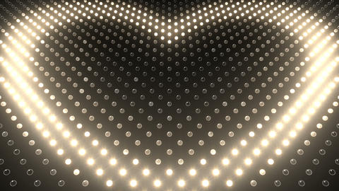 LED Wall 2 Heart G Aw HD Stock Video Footage