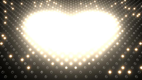 LED Wall 2 Heart G Bw HD Animation