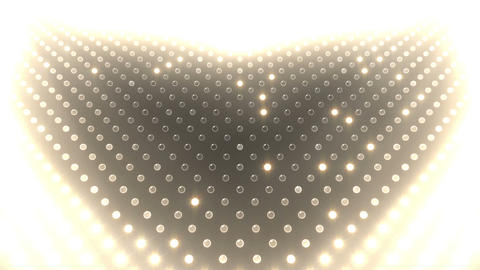 LED Wall 2 Heart G Bw HD Stock Video Footage