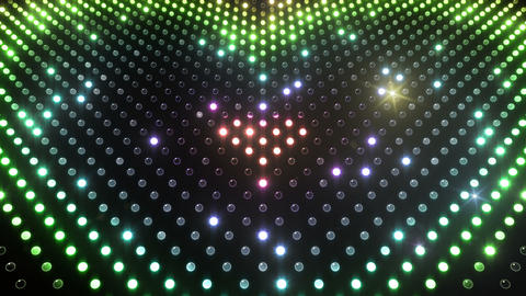 LED Wall 2 Heart G Cr HD Stock Video Footage