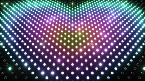 LED Wall 2 Heart G Cr HD Animation