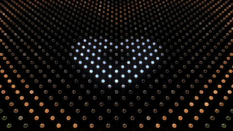 LED Wall 2 Heart G Dc HD Stock Video Footage