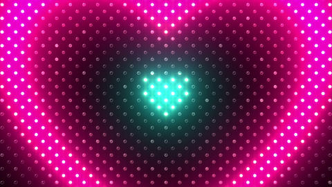 LED Wall 2 Heart B Ac HD Stock Video Footage