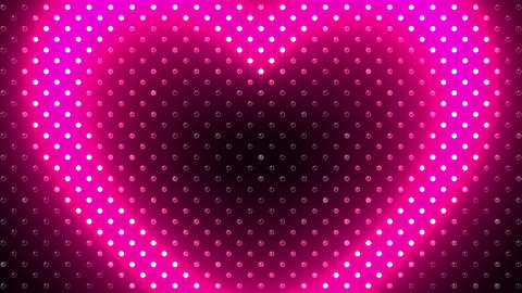 LED Wall 2 Heart B Ac HD Stock Video Footage