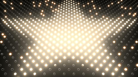 LED Wall 2 Star G Bw HD Animation