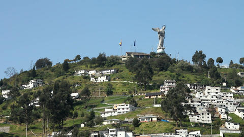 El Panecillo, Quito Stock Video Footage