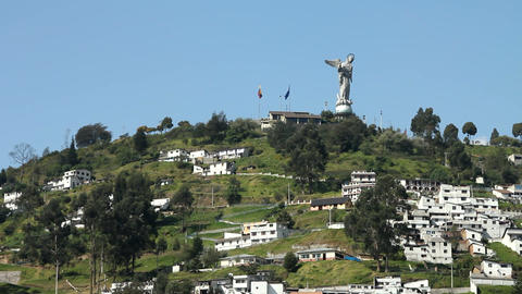 El Panecillo, Quito Footage