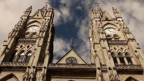 Basilica of the national vow, Quito Footage