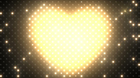 LED Wall 2 Heart B Bw HD Stock Video Footage