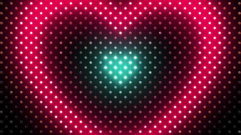 LED Wall 2 Heart B Dc HD Stock Video Footage