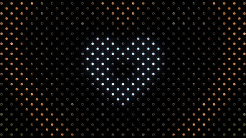 LED Wall 2 Heart B Dc HD Stock Video Footage