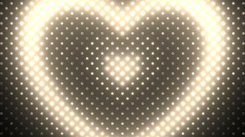 LED Wall 2 Heart B Dw HD Stock Video Footage