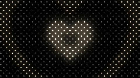 LED Wall 2 Heart B Dw HD Stock Video Footage