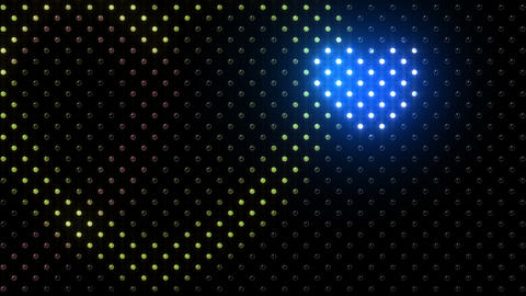 LED Wall 2 Heart B Ec HD Stock Video Footage