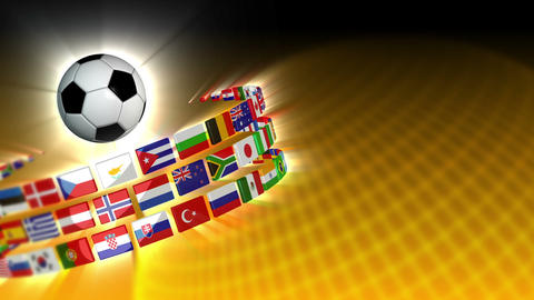 Soccer International Flags Sport Background 56 (HD) Animation