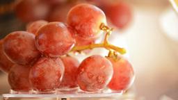 Red grapes rotating Loop Footage