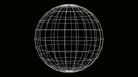globe wire Animation
