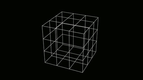 cube wire Animation
