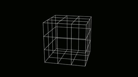 cube wire Stock Video Footage