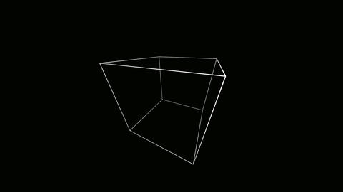 wide cube outline Stock Video Footage