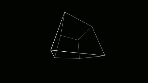 wide cube outline Animation