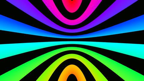curve rainbow offset Stock Video Footage