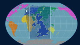 United Kingdom - 3D tube zoom (Kavrayskiy VII projection). Continents Animation