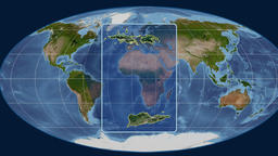 United States Virgin Islands - 3D tube zoom (Mollweide projection). Satellite Animation