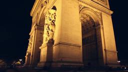 Arch of Triumph at night, Paris Footage