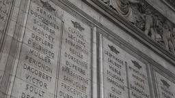 monument to the fallen soldier at the Arch of Triumph in Paris Footage