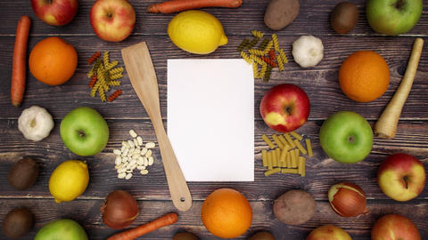 Paper for recipe and food supplies - Stop Motion Animation