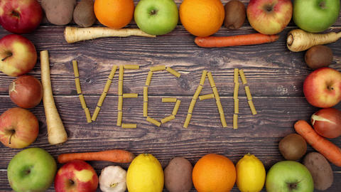 Vegan written with tubetti - Stop Motion Animation