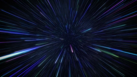 Space travelling with hyperspace jump in galaxy background Footage